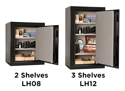 Home Safes Feature Adjustable executive shelves