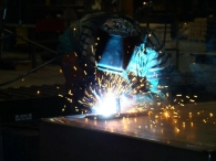 Hinges welded to box