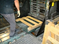 Pallets used for transportation and to protect safe