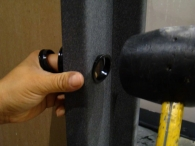 Easy-Glide Bolt Protectors installed