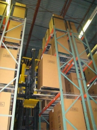 Computerized Electronic Lifts store/pull safes for delivery