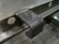 Internal hinges are secured to composite door