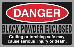 Danger Black Powder Sticker