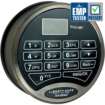 SecuRam ProLogic Electronic Lock Black Chrome