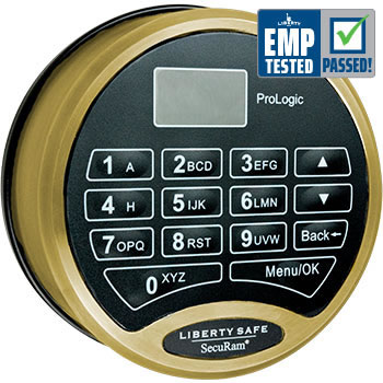 SecuRam ProLogic Electronic Lock Brass